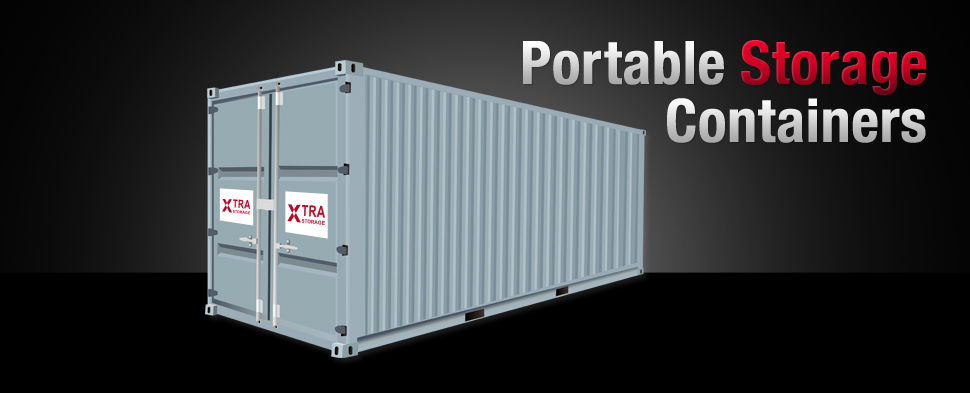 Portable storage containers for shipping & onsite rent or lease from Xtra Storage